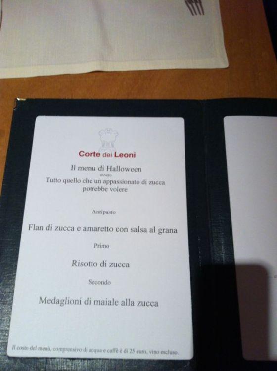 PaduaCorteDeiLeonidinner menu2