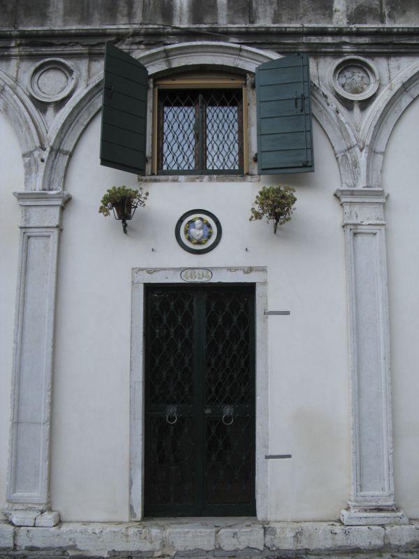 Venice doorway with medallion