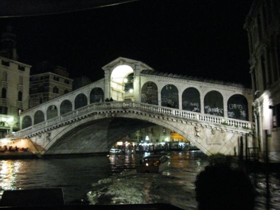 Nighttime Rialto Bridge