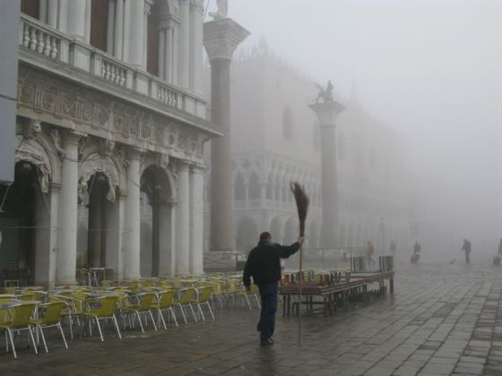 San Marco in fog sweeper