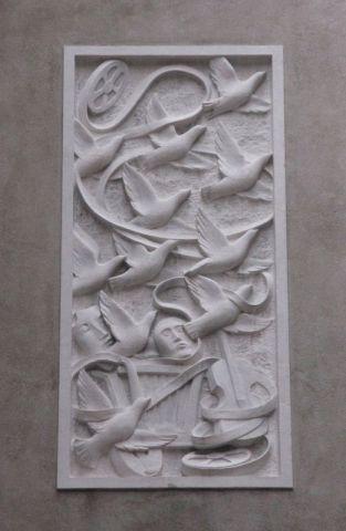 Venice bas relief wall
