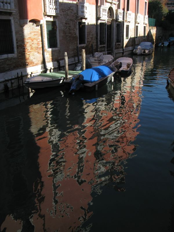 Venice canal late in day