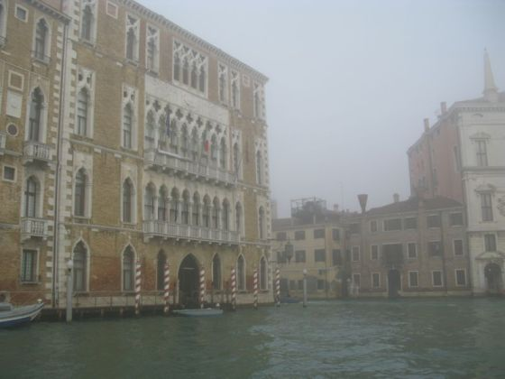 Venice grand canal foggy2