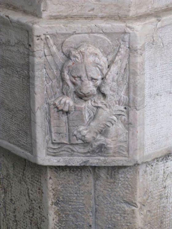 Venice Lion bas relief