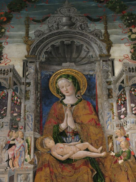 Virgin and Child Enthroned detail