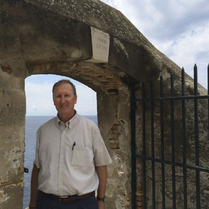 Dave at Gate on City Wall