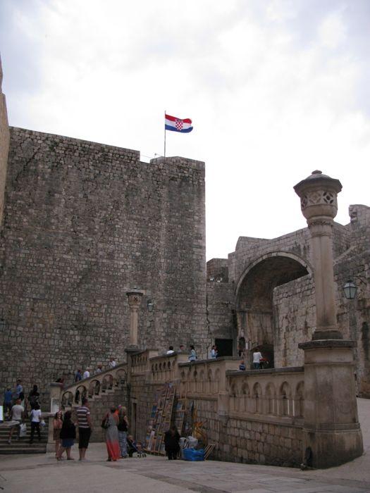 Dubrovnik--just inside Pile Gate