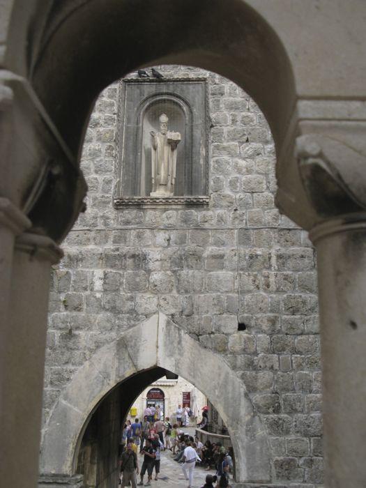 Pile Gate through balustrade Dubrovnik