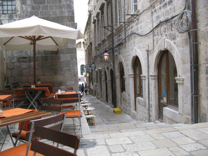 View back towards Luza Square Dubrovnik