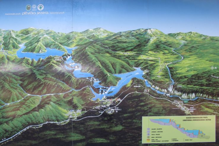 Plitivice Map from House Tina
