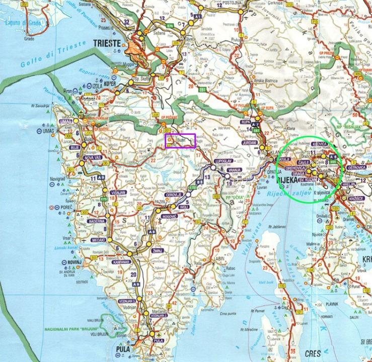 Istria Road Map