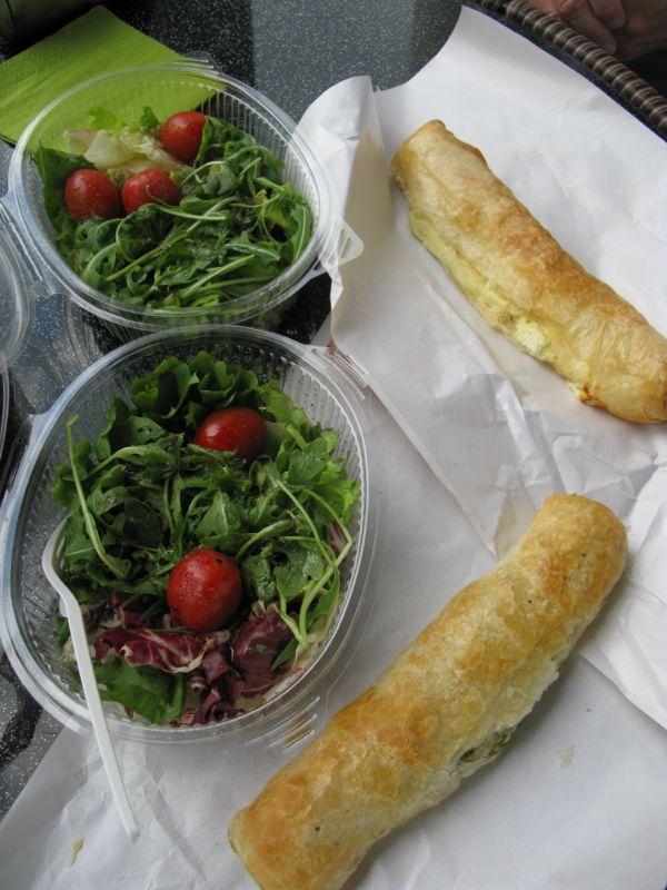 Ljubljana_Lunch Burek and salad