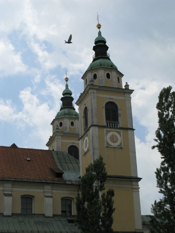 Ljubljana_St Nicholas Spires