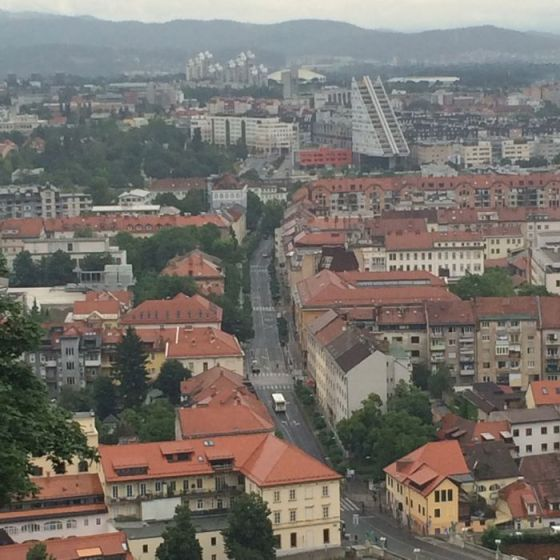 Ljubljana view from Castle