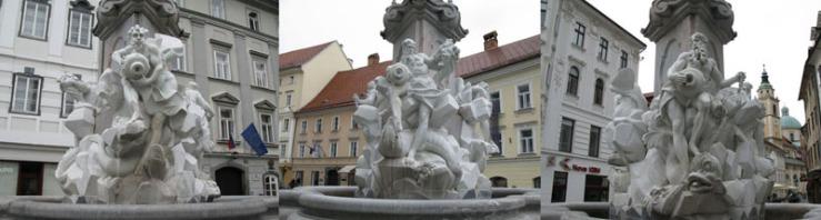 Three Rivers Fountain_facades