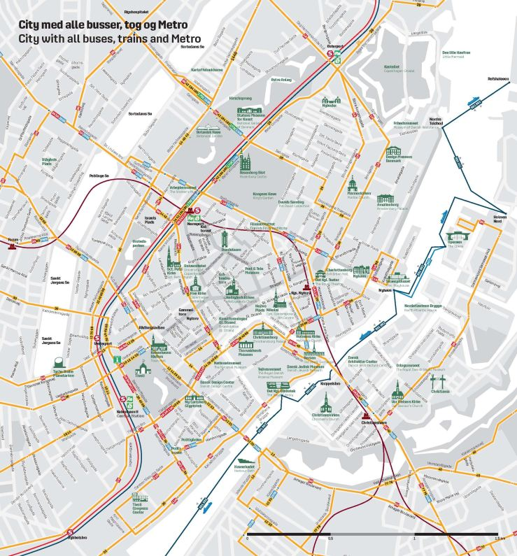 Copenhagen Transit Map
