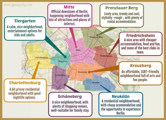 Berlin neighborhood map