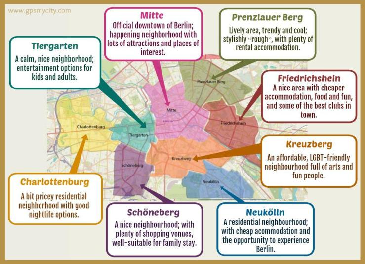 Berlin neighborhood map
