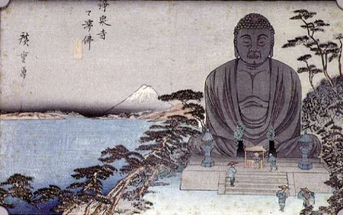 Great Buddha woodblock